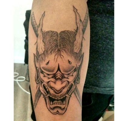 #hannya #hannyatattoo #oni #onitattoo #japanese #Japanesestyle #japanesetattoo #blackandgrey #blackandgreytattoo #zuperblack #intenzetattooink #fadetheitch #bishoprotary #ink #inked #tattoo #tattooed #tattooist #tattooartist #tattooftheday #photooftheday #France #Reims #thomtats7