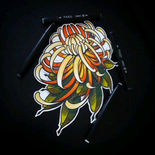 #chrysanthemumtattoo #chrysanthemum #thebesttattoo #thebesttattooartist #tattoolife #tattoocollectors #tattooartist  #tattoooftheday #ntgallery #newtraditionalgallery #theinkmasters #skinart #newschool_nation #tattooinrussia #neotradstyle #neotraditionaltattoo #newschooltattoo  #traditional #traditionaltattoo #cooltattoos #inkedup #zakirovtattoo #13spades #tattookrasnodar