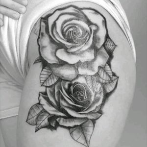 #realistic #roses #greywash #tattoo