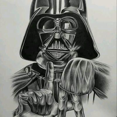 Unknown artist #StarWars #DarthVader #LA #Drawing. #BlackandGrey