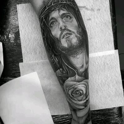 #god #rose #blackandgray #ink #blackandgreytattoo #blackandgrayonly