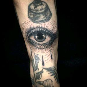 #tattoo #eyetattoo #tears #darkness #sadeye #bad #eye #black #tatuagem #tattoobr #blackwork #tattoos #tattooed #blackink
