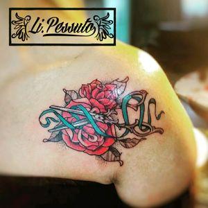 #alinepessutto #lipessutto #roses #rosestattoo #tatuagemfeminina #tatuagemcolorida #tesoura #scissors