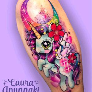 #unicorntattoo  #unicorn #colourtattoo