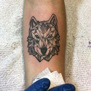 #abstractwolf #blackandwhitetattoo