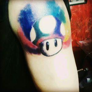 Mario mushroom, #abstract #Aquarell #tattooart