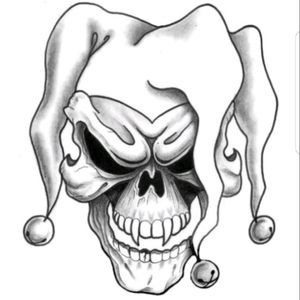 Badass drawing thinking about putting this as a joker from Batman what y'all think? #skull #thejoker