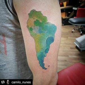 South America watercolor.