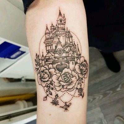 Disney castle tattoo #disney #castle #disneytattoo #disneycastle
