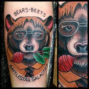 Dwight #tattoo #inked #skinandink #picoftheday #inkmaster #tattoosnob #lasvegas #lasvegastattoo #veganfriendly #walkinswelcome #lasvegastattooshop #theoffice #dwightschrute