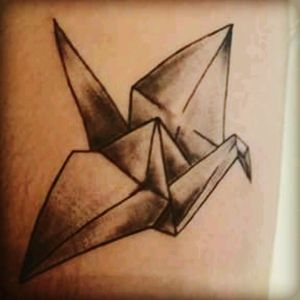 Tsuru tattoo of Prison Break serie. #prisonbreak #blackwork #delicate