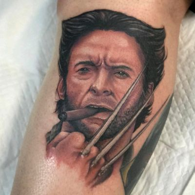 Second portrait on my Marvel leg sleeve, Wolverine done by Mikey Lo at Boundless Tattoo Company #MikeyLo #BoundlessTattooCompany #BTC #wolverine #wolverinetattoo #xmen #XMenTattoo #MarvelComics #MarvelTattoos #ComicTattoos #superhero #SuperheroTattoos #LegSleeve