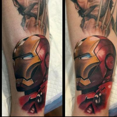 Third portrait on my Marvel leg sleeve, Iron Man done by Mikey Lo at Boundless Tattoo Company #MikeyLo #BoundlessTattooCompany #BTC #ironman #ironmantattoo #wolverine #wolverinetattoo #Avengers #AvenegersTattoo #xmen #XMenTattoo #MarvelComics #MarvelTattoos #ComicTattoos #superhero #SuperheroTattoos #LegSleeve