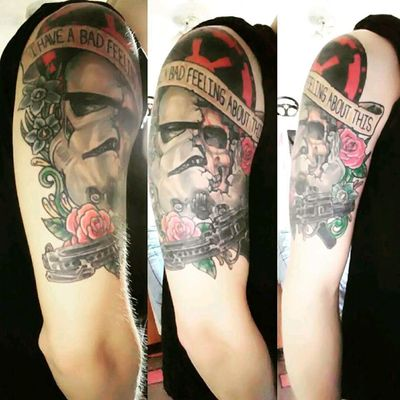 """My favorite piece. """"I have a bad feeling about this"""" #starwars #stormtrooper"""