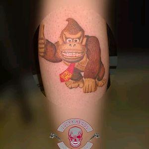 #DonkeyKong #Tattoo #luckyheadstattoo
