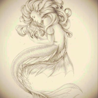 Here's #2 of some #mermaids I found on Pinterest. #mermaid #seashell #ocean #whimsical