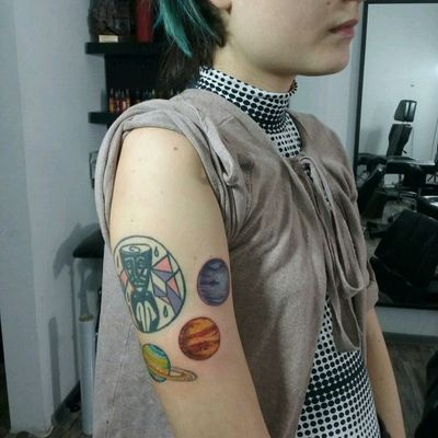 #coloredtattoo #planets #tattoo #ink #neptune #saturn #Mars #DAlexanderTattoo #NoRegretsTattoo