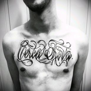 Cerca Trova (seek and shall find) #danbrown #danbrowntattoo #lettering #rj #errejota #tattoo #chest #escrita #family #021 #brasil #recreio #recreiodosbandeirantes #cercatrova #inferno