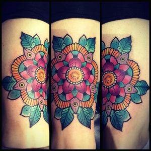 Traditional mandala flower #mandala #mandalaart #mandalastyle #flower #neotraditional #traditionalflower #glasgow #scotland