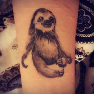 First tattoo  <3 #sloth #firsttattoo #cute #worthit #coveringscars