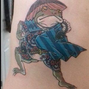 Tattoo made by Tenkiryu Honkehoriyoshifamily#frogtattoo #japanesefrog #TenkiryuHonkehoriyoshifamily