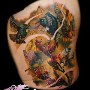 New Zealand nature themed tattoo