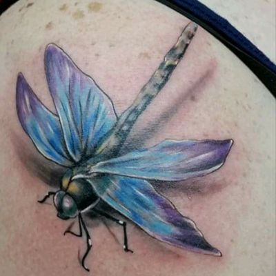 #heavybiggs #inksanitytattoo #colortattoo #lakeelsinoreca #insect #dragonfly #3D #3dtattoo