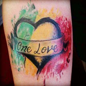 #bobmarley #onelove #rasta #heavybiggs #inksanitytattoo #colortattoo #lakeelsinoreca #hearttattoo #watercolortattoo