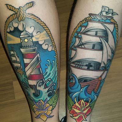 #ship #lighthouse #oldschool