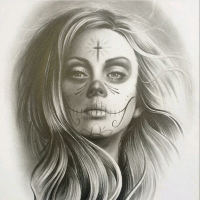 #DanielVogt @davo_tattoo #Drawing #Realism #Portrait #BlackandGrey #Catrina #FineArt #Ladyhead