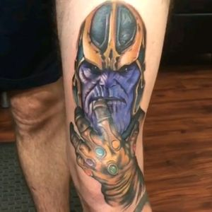 @MikeyLoTattoos at Boundless Tattoo Company added Thanos to the Infinity Gauntlet he did 3 weeks ago. The upper half of this Marvel Leg Sleeve is gonna be stiff competition for the completed lower half. #marvelcomics #marvelcomicstattoo #thanos #thanostattoo #avengers  #AvengersTattoo #guardiansofthegalaxy  #guardiansofthegalaxytattoo #legsleeve #legtattoo #comics #comicstattoo #infinitystones #gauntlet #gauntlettattoo