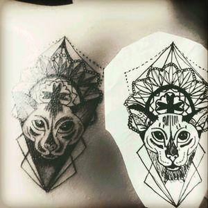 #Ägyptischemau #Katze #tattoo #tattoos #dreamtattoo #mindblowing #black #schwarz #dotwork