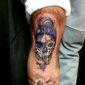 www.theblackhattattoo.com @blackhatsergy @#blackhattattoo #skulltattoo #tattooartistdublin #sketchtattoo