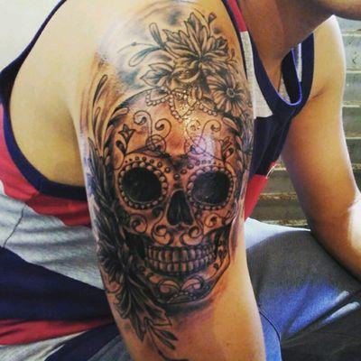 #mexican #skull #blackwork