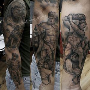 Works of Hércules Done at @elmonodetinta #seville By @el_mono_tatuador Hecho en @elmonodetinta @balm_tattoo @artdriver_tattoomachines @worldfamousink @artdriver_tattoomachines #sevilla #sevillatattoo #tattoosevilla #andalucia #elmonodetinta #d_world_of_ink #bluebird_needle_cartridges @d_world_of_ink #tattoodo @tattoodo