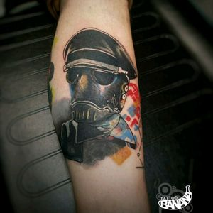 """Karl"" By Ela. #tattoobanana #tattoo #tattoos #tatts #bodyart #inked #thurles #ink #tattoolovers #tatuaze #worldfamousink #sabretattoosupplies #irelandtattoostudio #tattooprime #easytattoo_uk #HellBoy"
