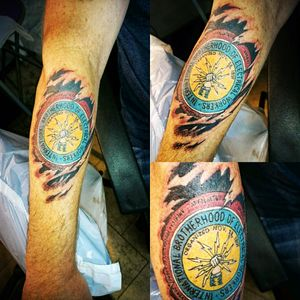 Electrician tattoo #skinteartattoo #uniontattoo #colourtattoo #femaleartist #canadiantattoo