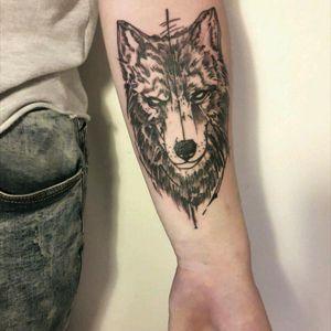 #tattoo #ink #linework #lines #dots #blackwork #blackworktattoo #blackworkers #blackworkerssubmission #dotstattoo #dotwork #blacktattoo #black #wolf #wolftattoo #inked #in #2 #hours #byAnis