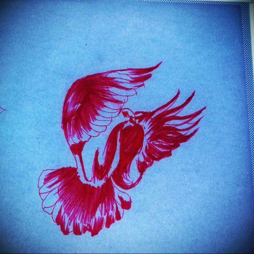 #skitze #taube #fliegen #federn #Vorlage #stencil #rot #Farbe #tattoo #tattooartist