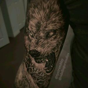 #wolf #fenrir #norsemythology #mythology #wildlife #blackandgrey #realism