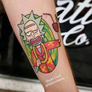#rickandmorty #rickandmortytattoo love tattooing Rick's!