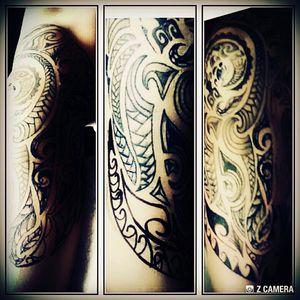 #maori #maoritattoo #arm #sleeve #Frau #cheyenehawk #black #follower #followme #mind #dreamtatto #mone1971