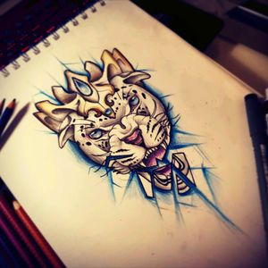 #neotraditional #panther #crown #newschool #drawing #design #animal #nature #abstract