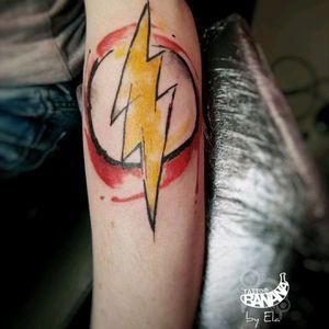 Flash logo. #tattoobanana #tattoo #tattoos #tatts #bodyart #inked #thurles #ink #tattoolovers #tatuaze #worldfamousink #sabretattoosupplies #irelandtattoostudio #tattooprime #easytattoo_uk #flashgordon #dccomics