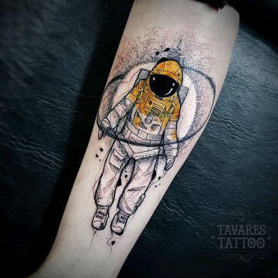 🚀 Astroboy #astronaut #watercolor #blackwork #dotwork #color #cosmo #sketch #sketchtattoo