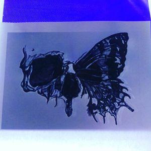 #skitze #vorlage #stemcil #tattooartist #tattooart #tattoo #inked #Schädel #Motte #black #cheyennetattooequipment #Intenzetattooink