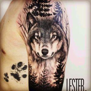 #wolfhead #lobo #floresta #forestxwolf #blackAndWhite #brasiltattoo #realism #realismo #fineline #wolf