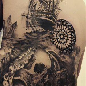 #tattoo #ink #inklovers #tattootime #tattooing #byAnis #AnastasiaTrigoutiAnis #blackwork #skull