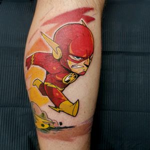 The Flash tattooed by Phoenix #theflash #cartoon #dc #flash #colour