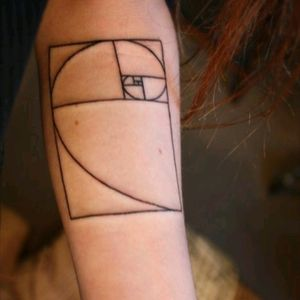 Fibonacci tattoo. #fibonacci #goldenratio #perfection #armtattoo #math #science #pattern
